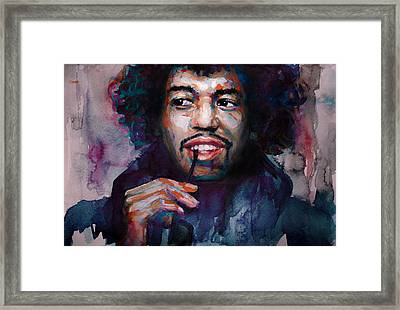 Jimi Hendrix Watercolor Framed Print