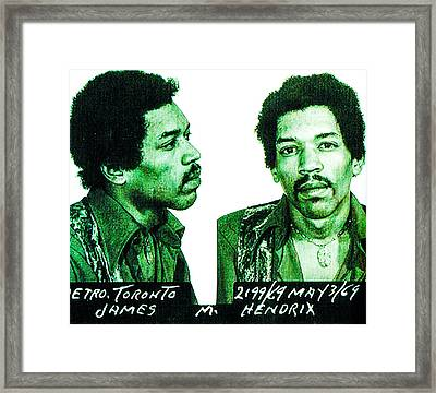 Jimi In Green Framed Print