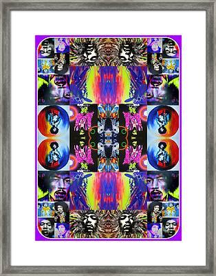 Jimi Hendrix - ' Jimi Kaleidoscope I ' Framed Print