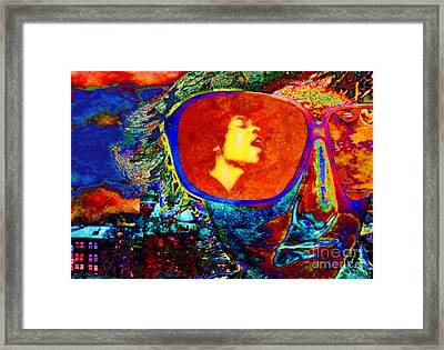 Jimi Lives Framed Print by Mojo Mendiola