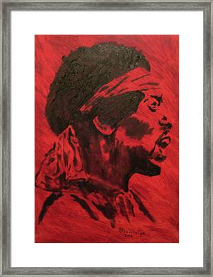 Jimi Framed Print by Mark Greenhalgh