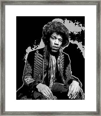 Jimi Pop Art Framed Print by Daniel Hagerman