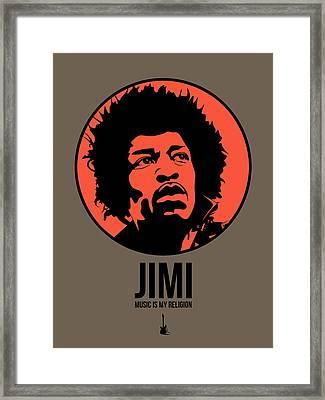Jimi Poster 1 Framed Print by Naxart Studio