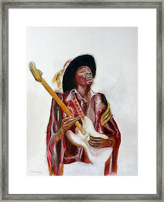 Jimi Framed Print by Tom Conway