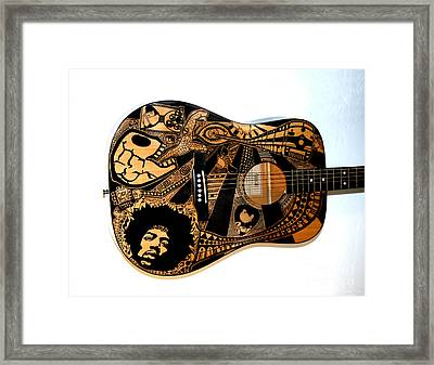 Jimi's Guitar Framed Print by The Art Of Rido