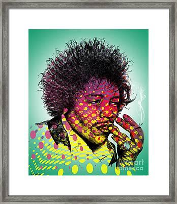 Jimmie Hendrix  Framed Print by Mark Ashkenazi