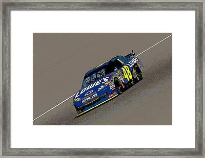 Jimmie Johnson 48  Framed Print by Kevin Cable