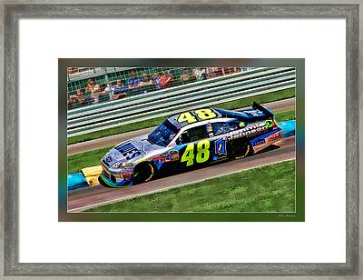 Jimmie Johnson Framed Print