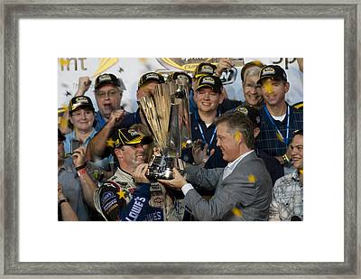 Jimmie Johnson Framed Print by Kevin Cable