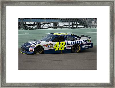 Jimmie On Track Framed Print by Kevin Cable