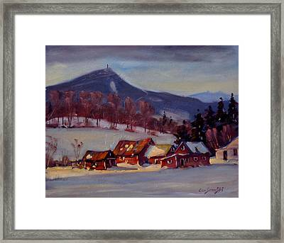 Framed Print featuring the painting Jimmie's Place by Len Stomski