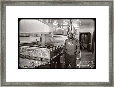 Jimmy At Mt Cube Sugar Farm Framed Print