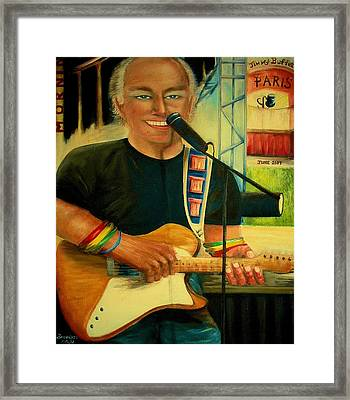 Jimmy Buffett In Paris Framed Print