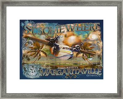 Jimmy Buffett's Hemisphere Dancer Framed Print by Desiderata Gallery