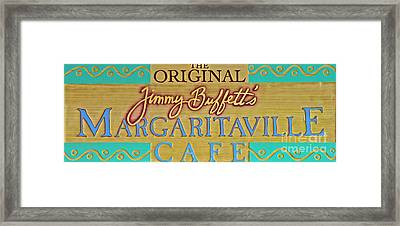 Jimmy Buffetts Key West Margaritaville Cafe Sign The Original Framed Print by John Stephens