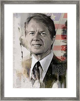 Jimmy Carter Framed Print