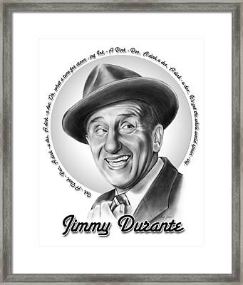 Jimmy Durante Framed Print by Greg Joens