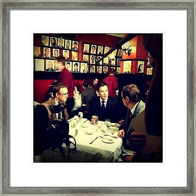 Jimmy Fallon, Steve Higgins & A.d. Miles Framed Print
