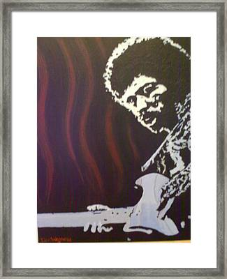 Framed Print featuring the painting Jimmy Has Soul by Dan Wagner