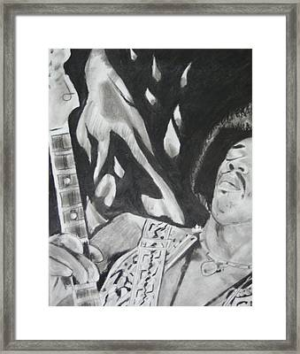 Jimmy Hendrix Framed Print by Aaron Balderas