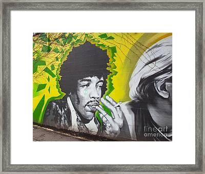Jimmy Hendrix Mural Framed Print
