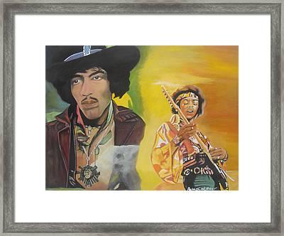 Jimmy Hendrix Framed Print by Patrick Hunt