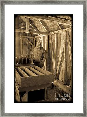 Jimmy In The Old Mt. Cube Sugar House Framed Print by Edward Fielding