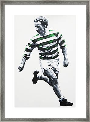 Jimmy Johnstone - Celtic Fc Framed Print