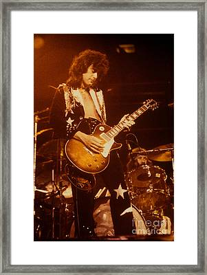 Jimmy Page 1975 Framed Print