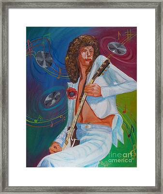 Jimmy Page 2 Framed Print by To-Tam Gerwe
