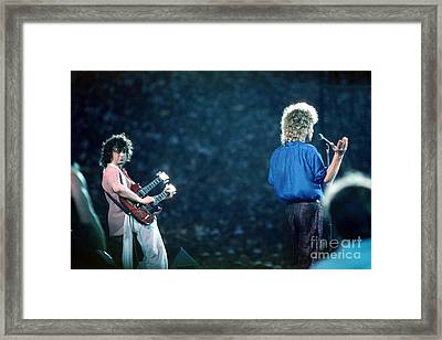 Jimmy Page And Robert Plant Framed Print by Wernher Krutein