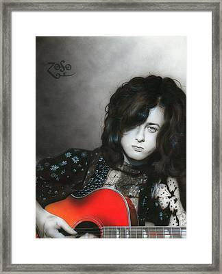 ' Jimmy Page ' Framed Print