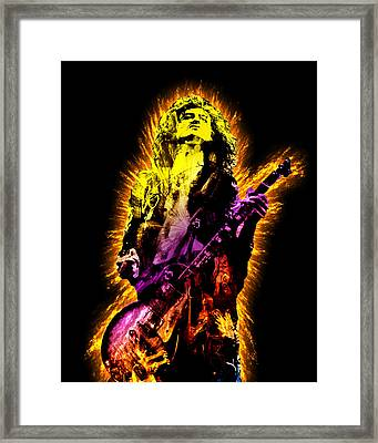 Jimmy Page Framed Print by Michael Lee