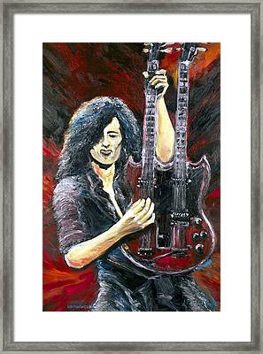 Jimmy Page The Song Remains The Same Framed Print by Mike Underwood