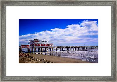 Jimmy's Pier Framed Print by Perry Webster