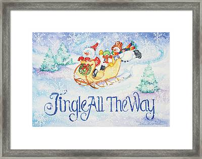 Jingle All The Way Framed Print by Kathleen Parr Mckenna