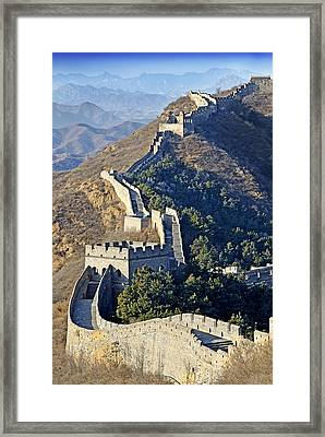 Jinshanling Section Of The Great Wall Of China Framed Print by Brendan Reals