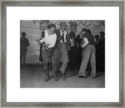 Jitterbugging In Juke Joint Framed Print by Historic Photos