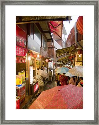 Jiu Fen Rain  Framed Print