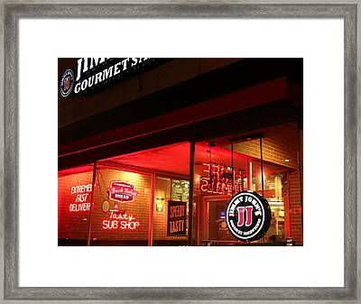 Framed Print featuring the photograph Jj Night Magic by Bill Woodstock