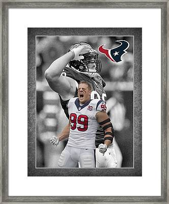 Jj Watt Texans Framed Print by Joe Hamilton