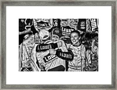 Jj Wins Chase Framed Print by Kevin Cable