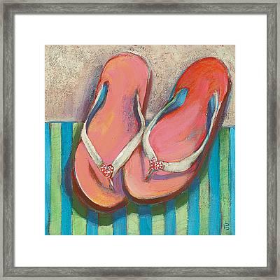 Pink Flip Flops Framed Print