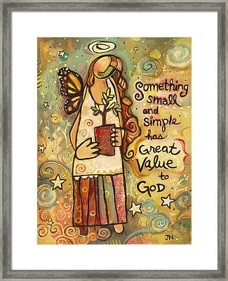 Someting Small Inspirational Art Framed Print by Jen Norton