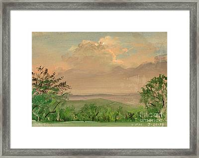 Jo Daviees Skies Framed Print by Art By Tolpo Collection