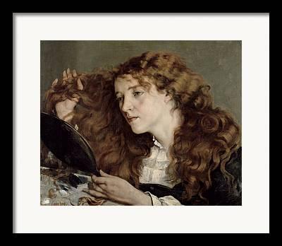 The Beautiful Irish Girl Framed Prints
