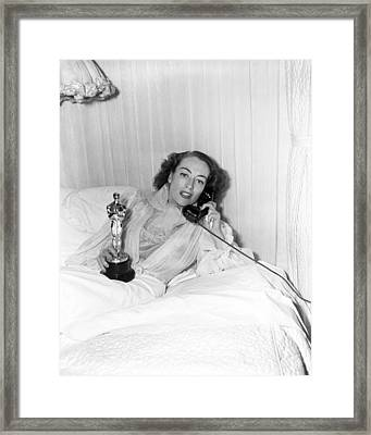 Joan Crawford - Academy Award Framed Print by Silver Screen