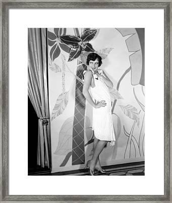 Joan Crawford, Ca. 1927 Framed Print by Everett