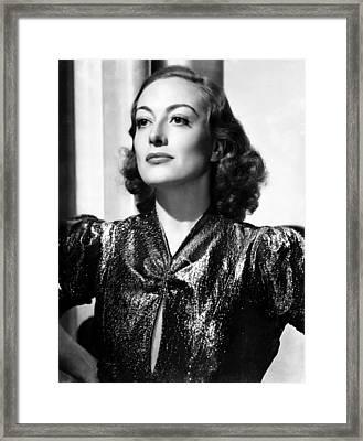 Joan Crawford, Ca. 1937 Framed Print