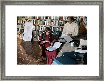 Joan Didion And John Gregory Dunne Framed Print